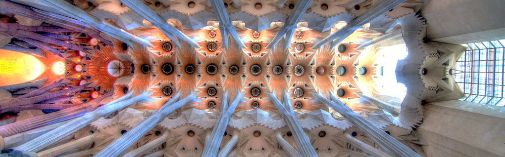 Architecture d'Antoni Gaudi à Barcelone